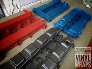 Image of Ford Focus Wrinkle Ford Racing Blue Powdercoated Zetec Valve Cover