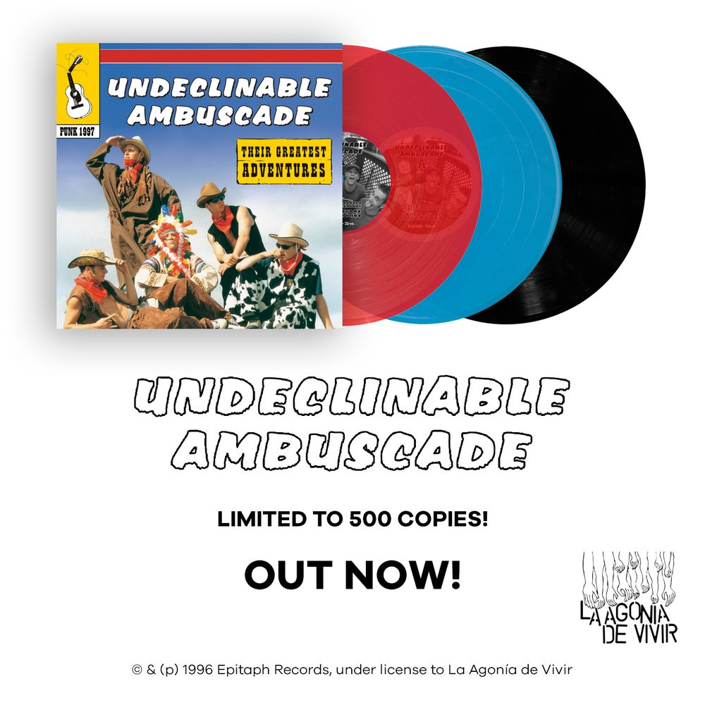 "Image of LADV88 - UNDECLINABLE AMBUSCADE ""their greatest adventures"" LP REISSUE"