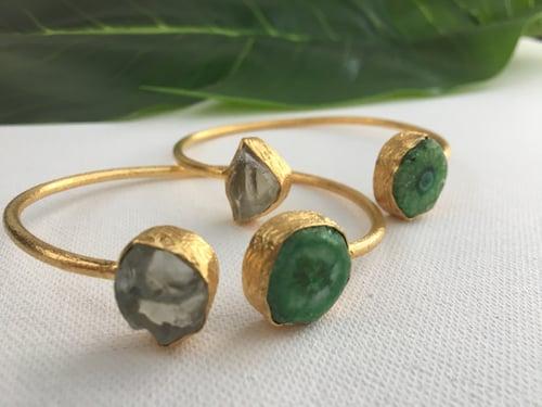 Image of Green Solar Quartz Bangles • Bracelets
