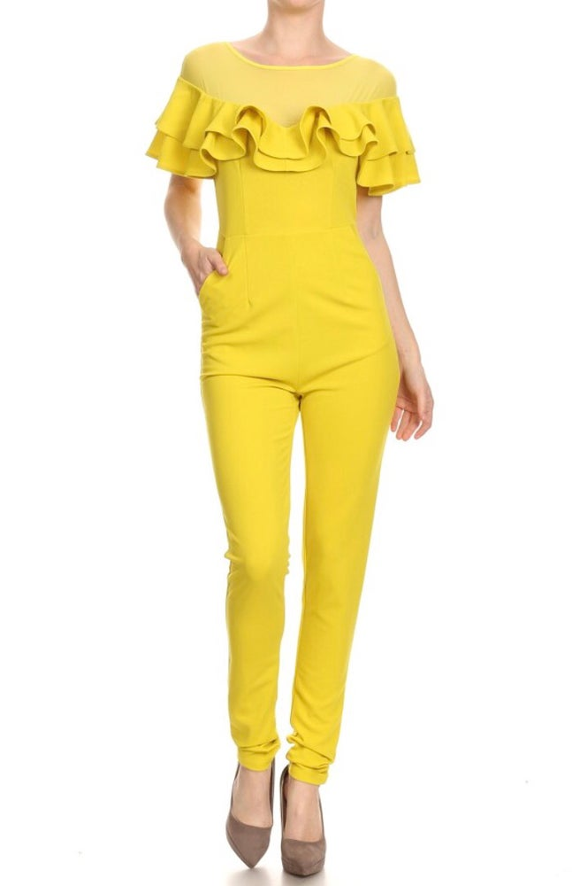 Image of Yellow Ruffle Jumper