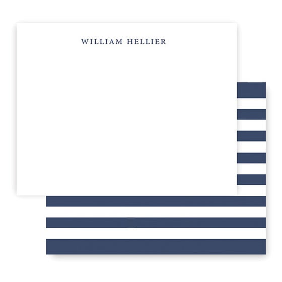 Image of CLASSIC STRIPES Custom Notecards + Envelopes