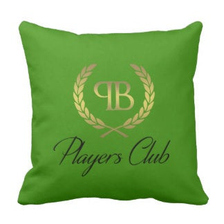 Image of Players Club Throw Pillow