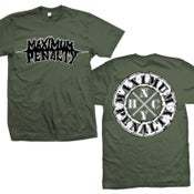 "Image of MAXIMUM PENALTY ""Logo NYHC"" Military Green T-Shirt"