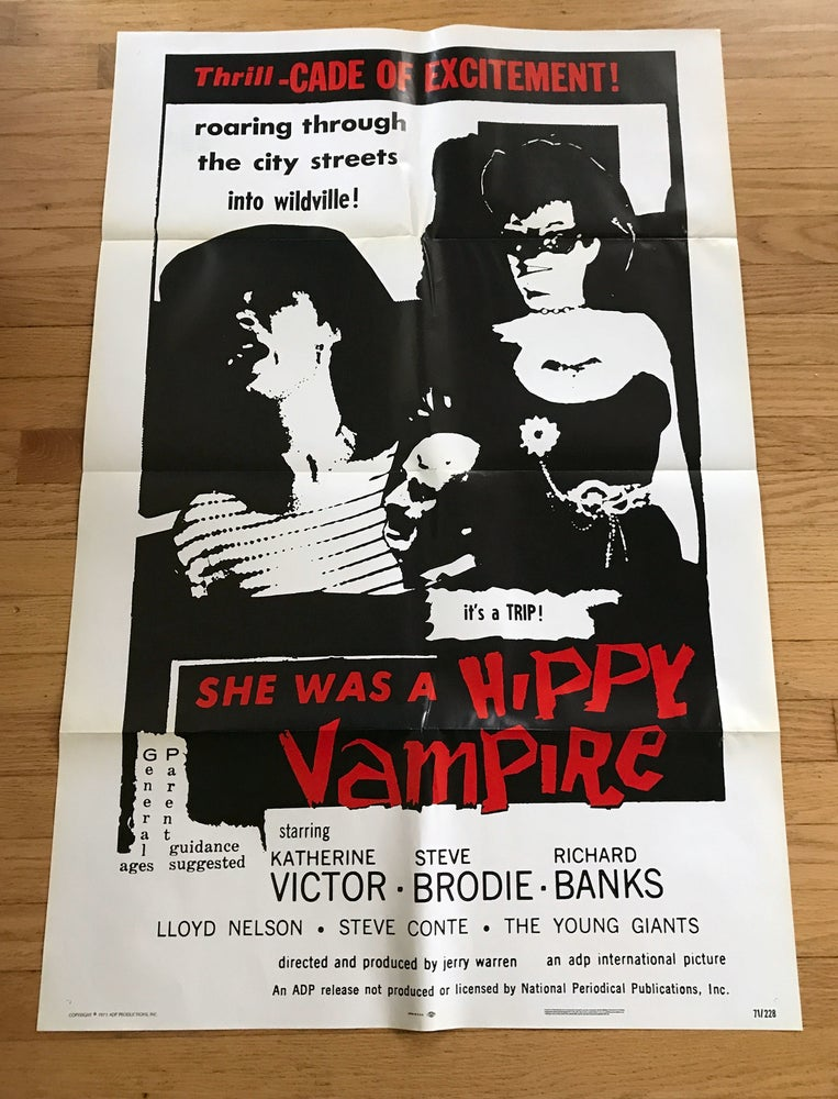 Image of 1971 SHE WAS A HIPPY VAMPIRE aka THE WILD WORLD OF BATWOMAN Original U.S. One Sheet Movie Poster