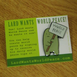 Image of Lard Enamel Badge