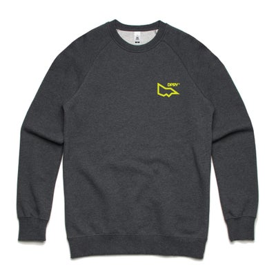 Image of DPRV crew neck sweat - Asphalt marle (S & XXL only)