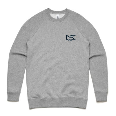 Image of DPRV crew neck sweat - Grey Marle (only S left)