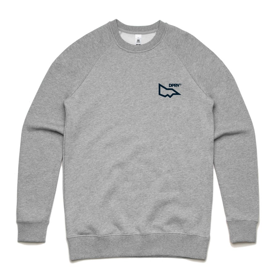 Image of DPRV crew neck sweat - Grey Marle (S only)