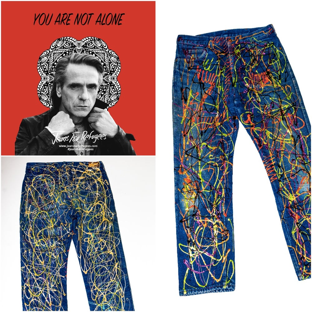 Image of Jeremy Irons' Jeans for Refugees