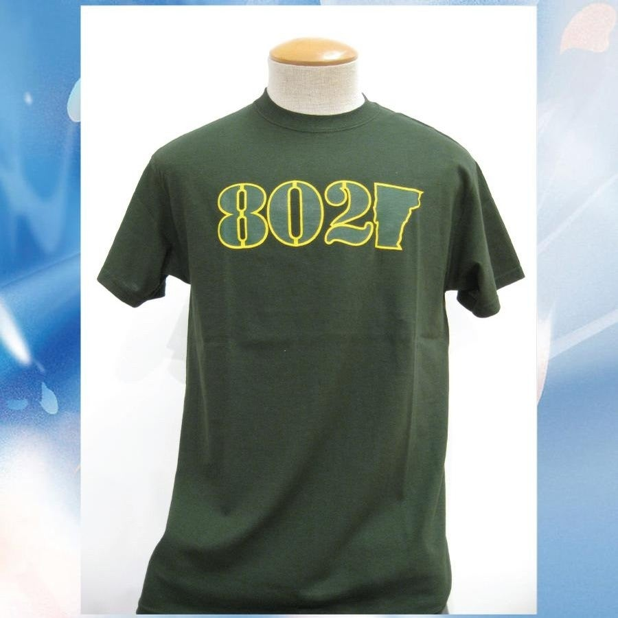 Image of 802 Classic Tee (Forest/Yellow-Forest)