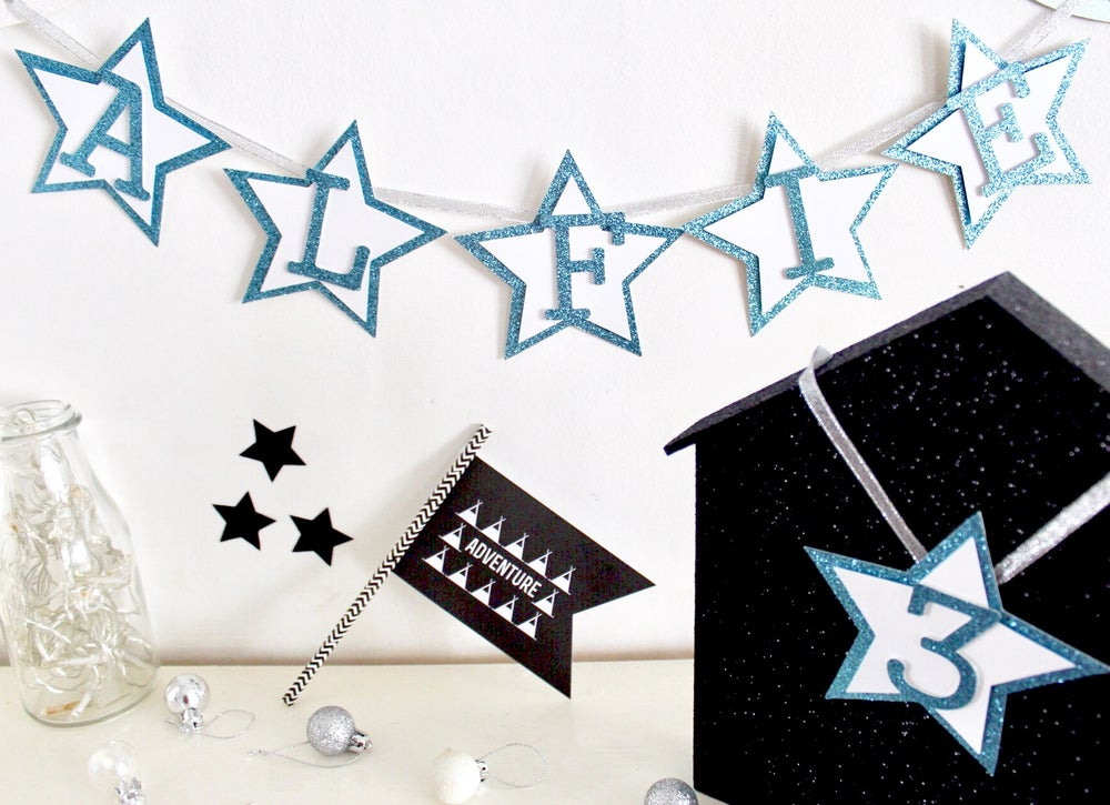 Image of 3D star personalised banners