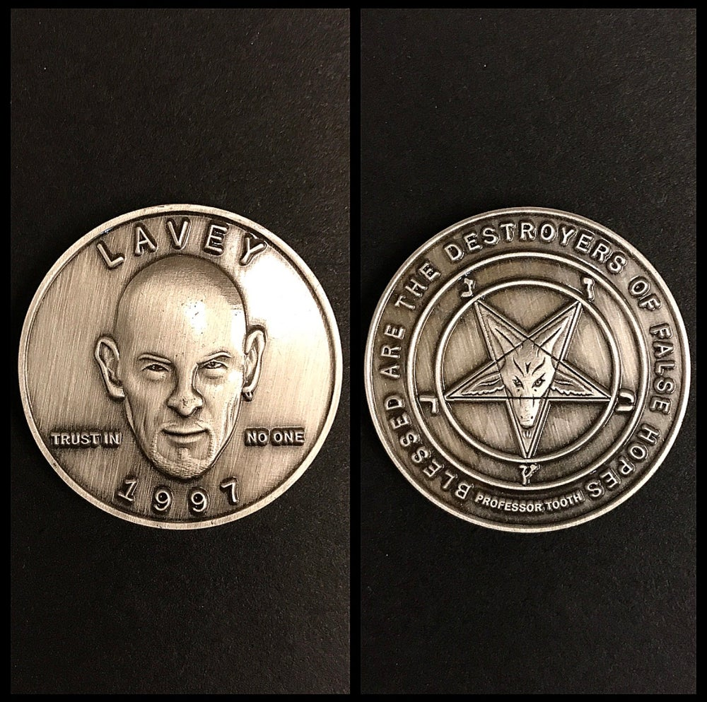Image of Satanist Anton LaVey Coin