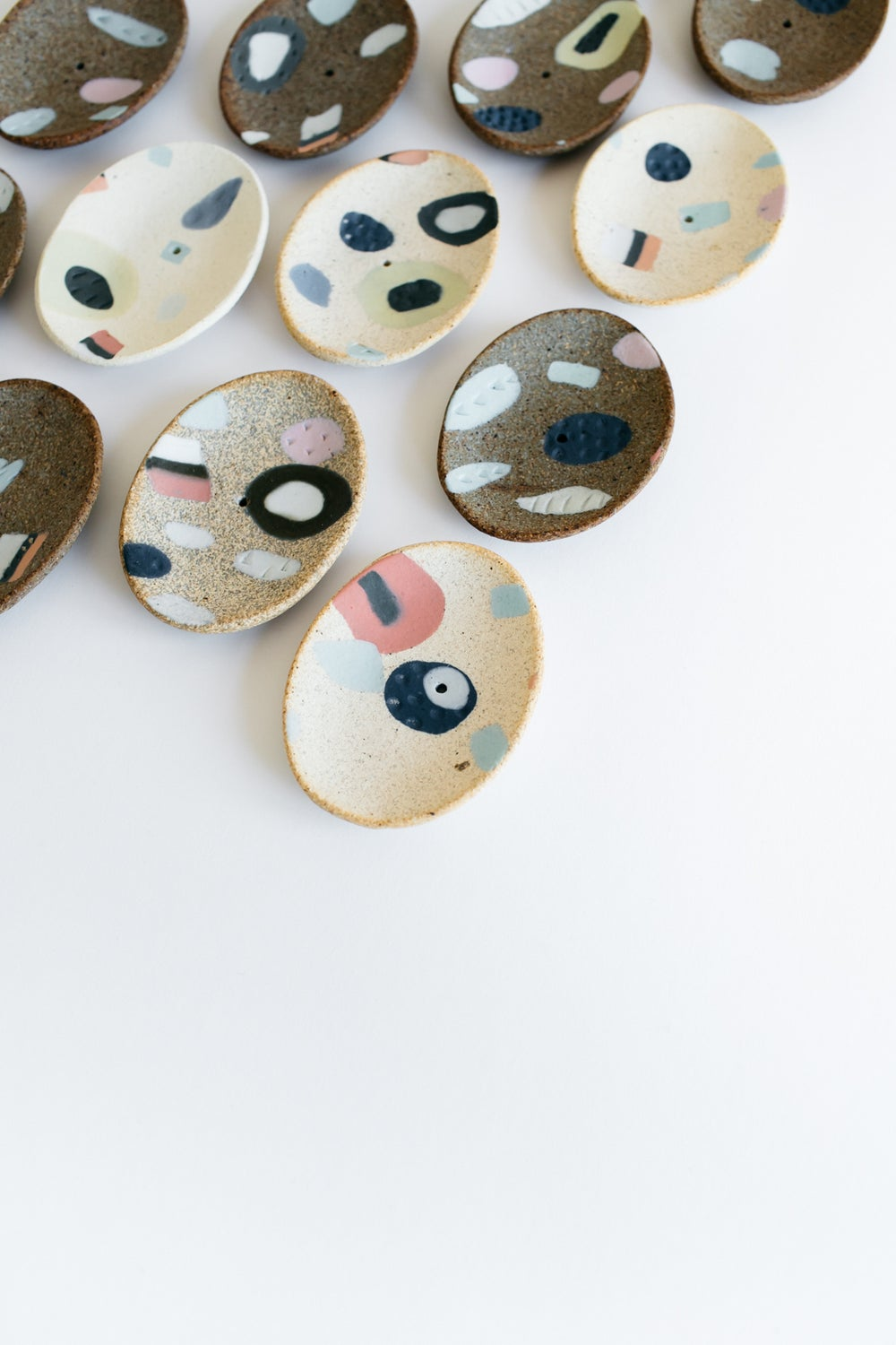 Image of All Sorts porcelain inlay incense holders