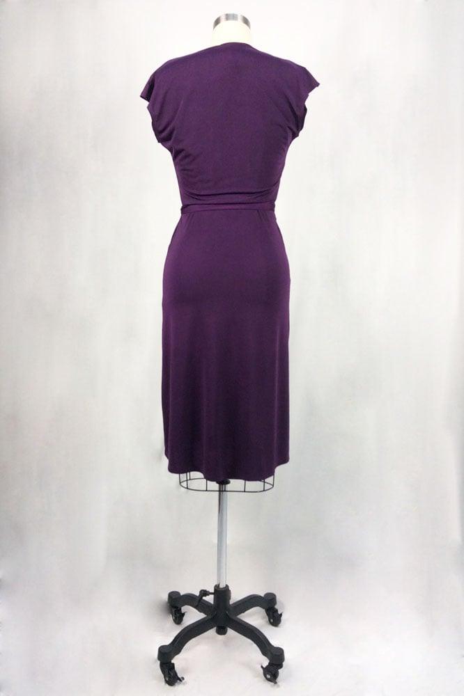 Image of Rita Hayworth Short Sleeves (Eggplant)
