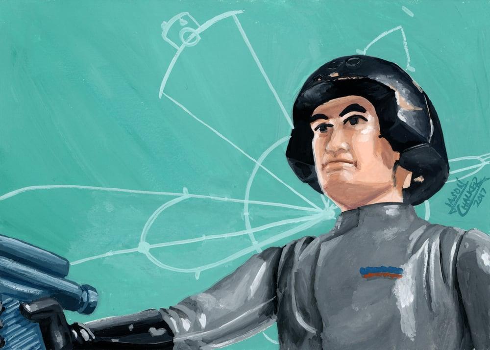 Image of Death Squad Commander - Original Painting by Jason Chalker