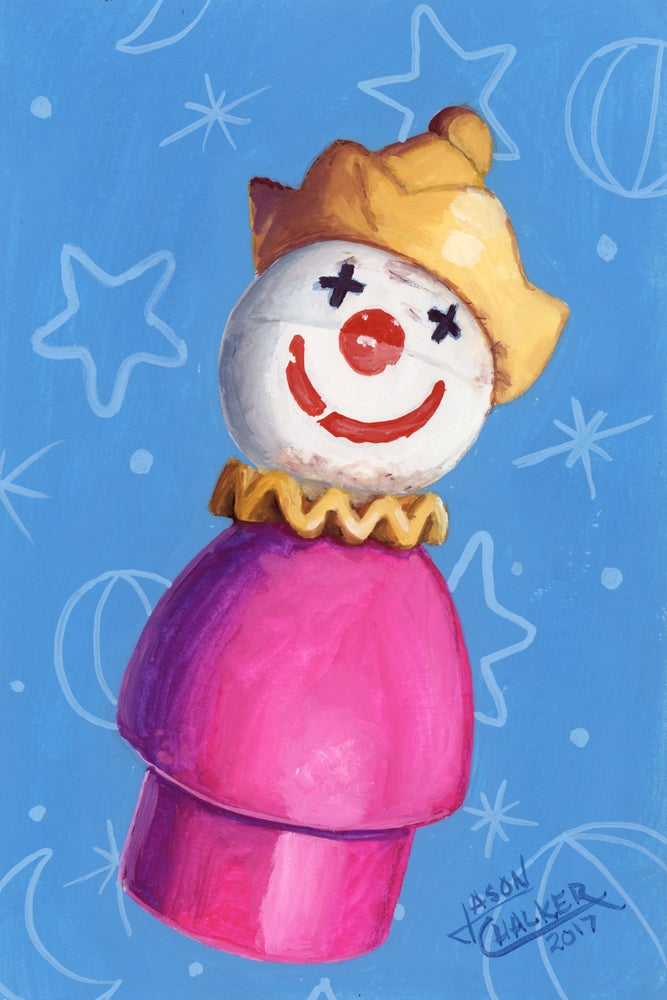 Image of Peg Clown - Original Painting by Jason Chalker