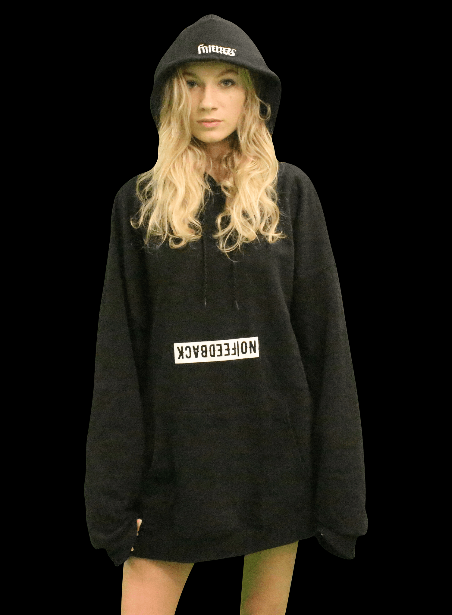 "Image of ""Friends&Fam Hoodie"" BLACK