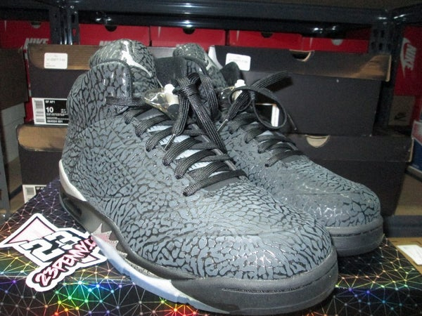 "Air Jordan V (5) Retro ""3Lab5: Blk/Metallic Silver"" *PRE-OWNED* - SIZE13ONLY by 23PENNY"