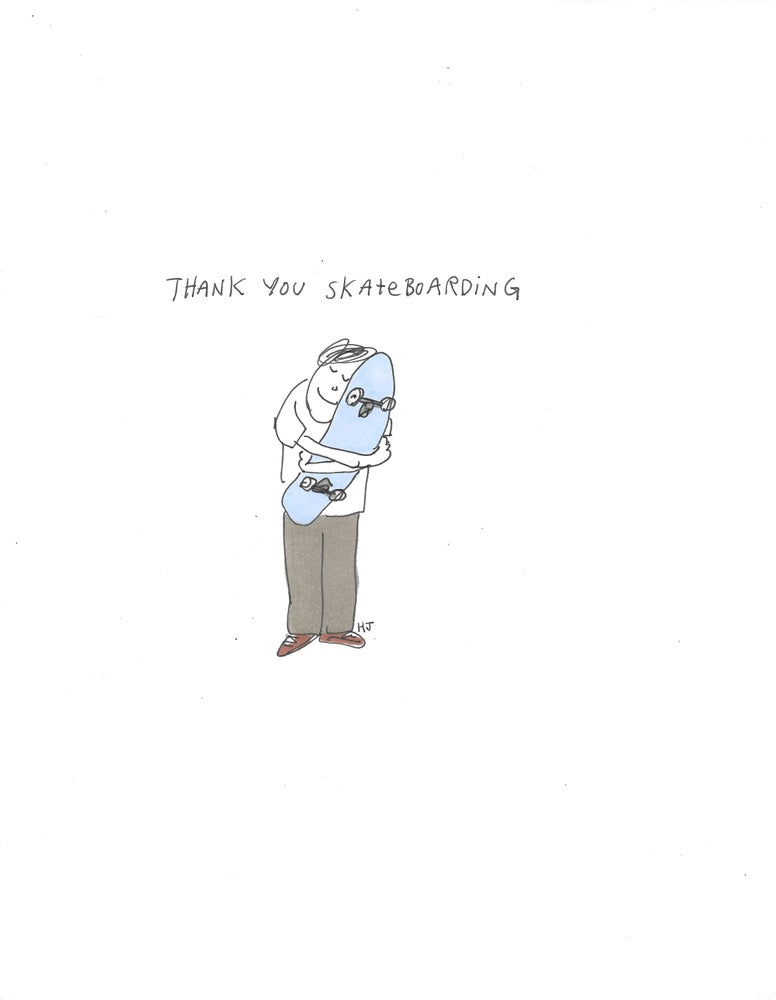 "Image of ""Thank You Skateboarding"" - 8 1/2"" x 11"" Print"