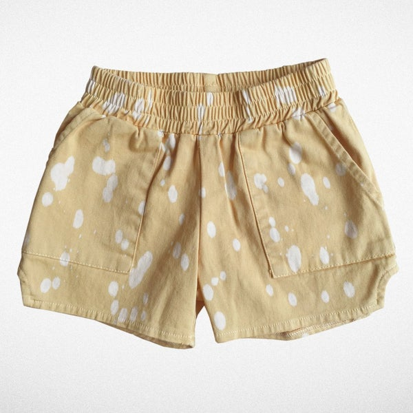 "Image of Tiny Whales ""Dad short"" in tan"