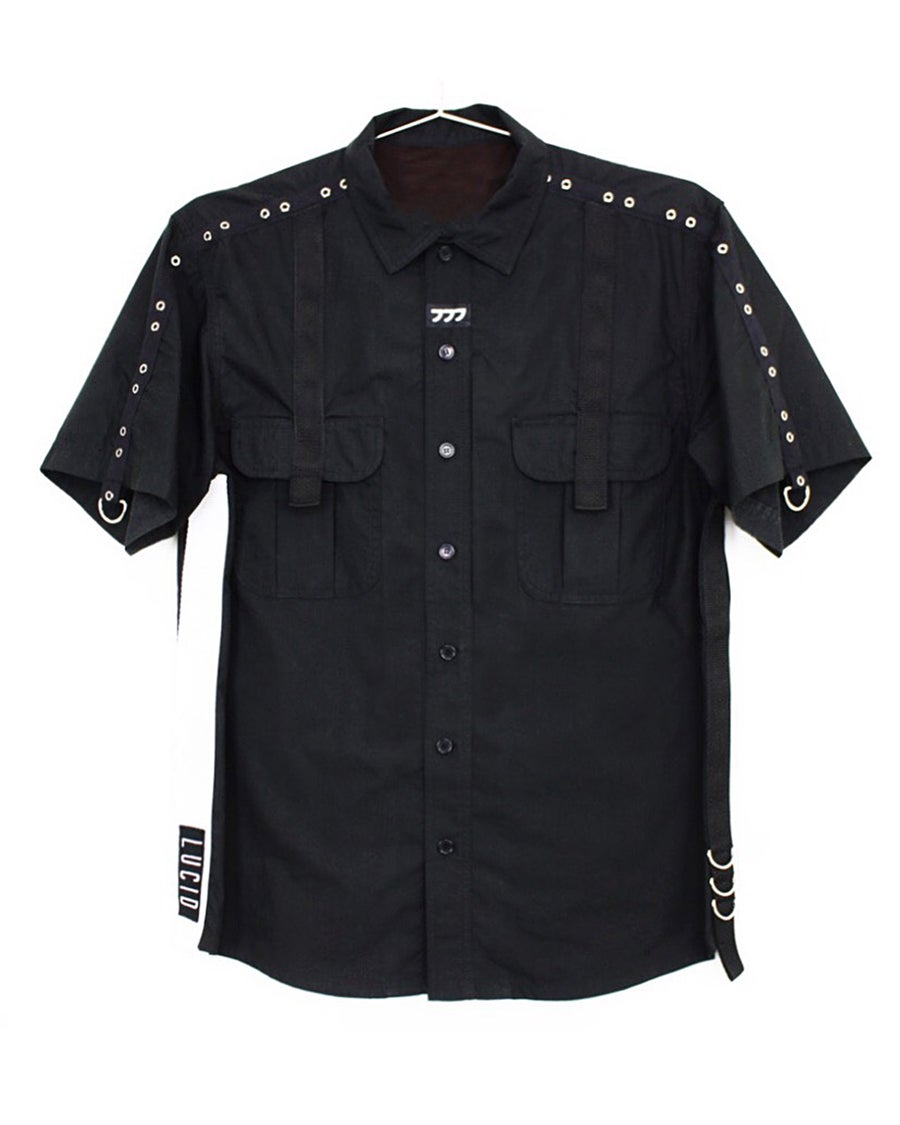"Image of ""FULL METAL"" BUTTON UP SHIRT"