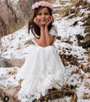 Image 5 of Girls White Special Day Twirly Dress