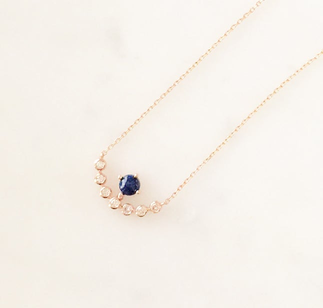 Image of Blue Moon Lapis Necklace