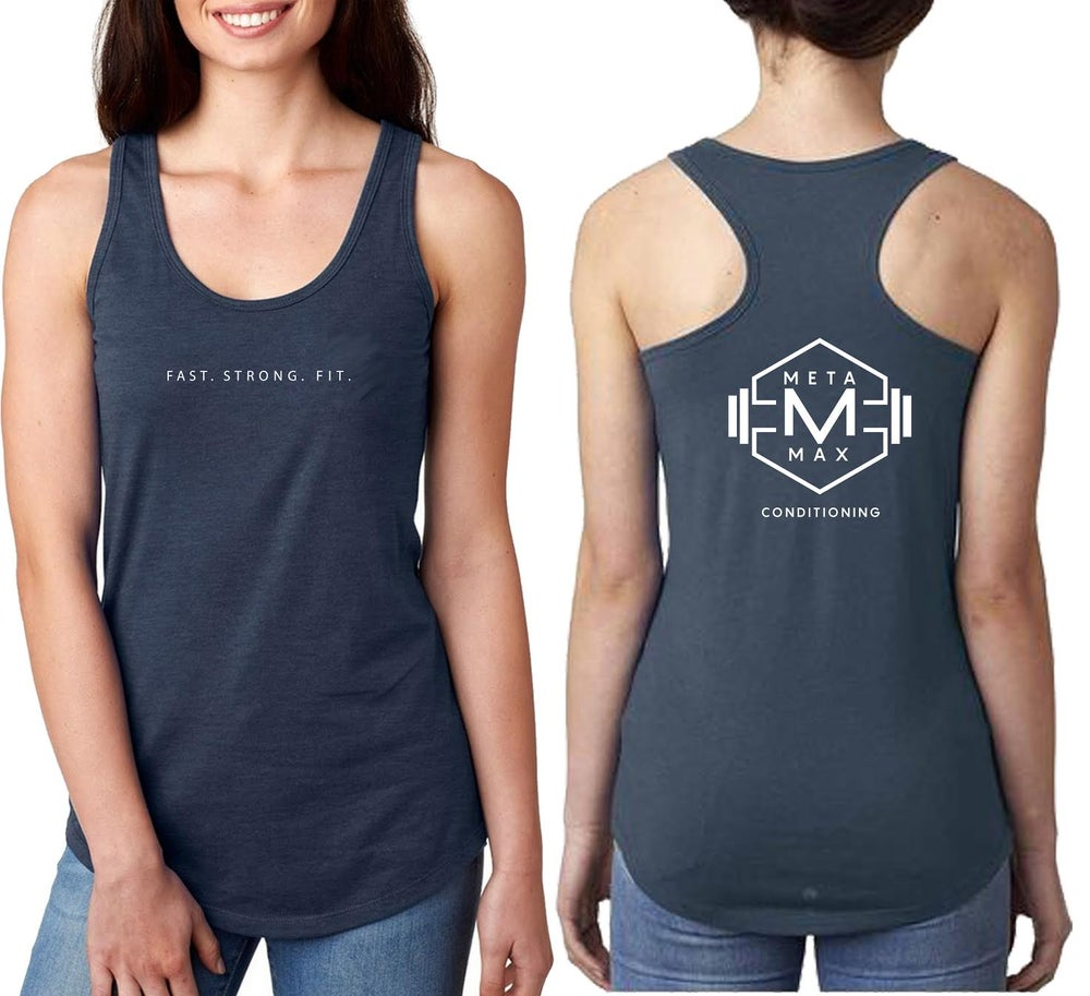 Image of Womens Logo Racerback - Blue - Pre Order