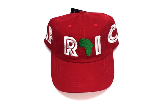 "Image of World Tour ""AFRICA"" Dad Hat Red"