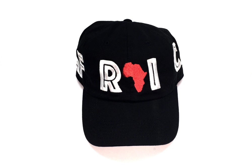 "Image of World Tour ""AFRICA"" Dad Hat Black"