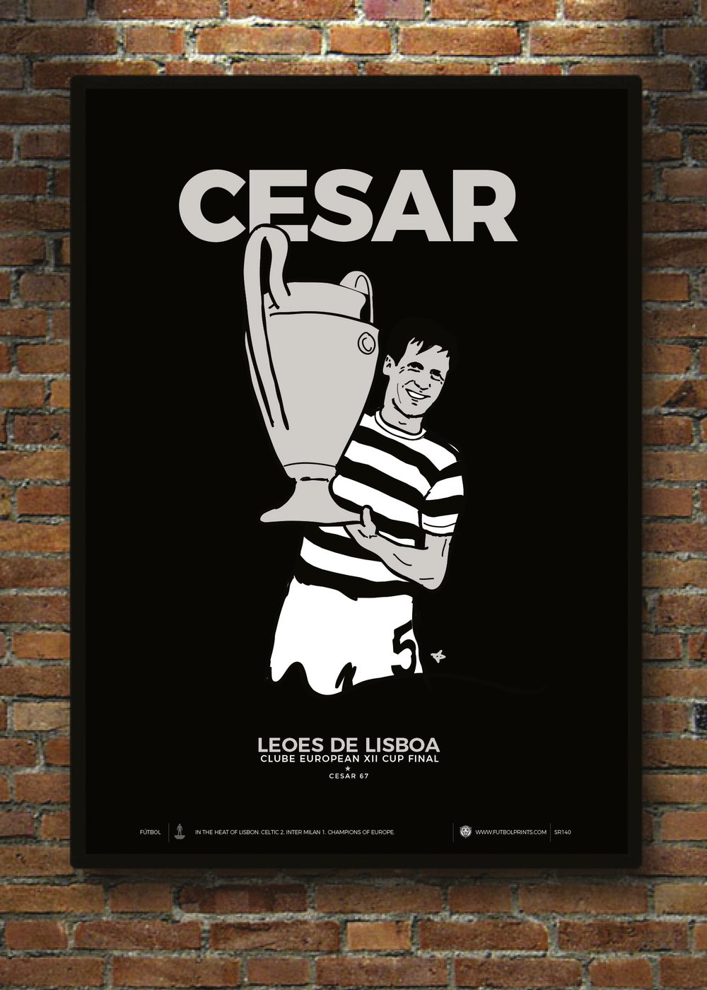 Image of CESAR 67 PRINT BLACK