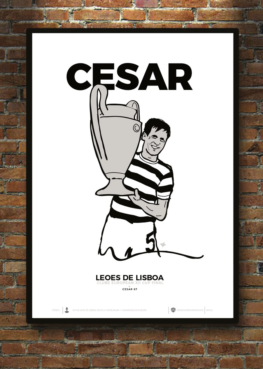 Image of CESAR 67 WHITE PRINT
