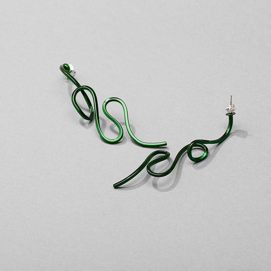 Image of Serpentine earring