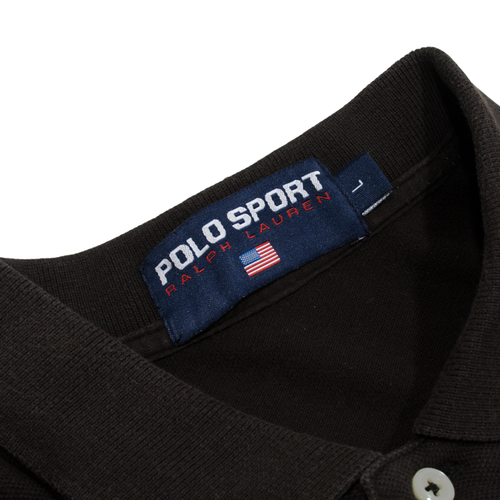 Image of Polo Sport Polo Shirt Spell Out Size L
