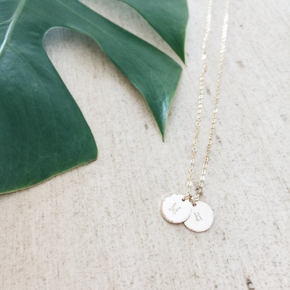 Image of Custom Small Coin Necklace