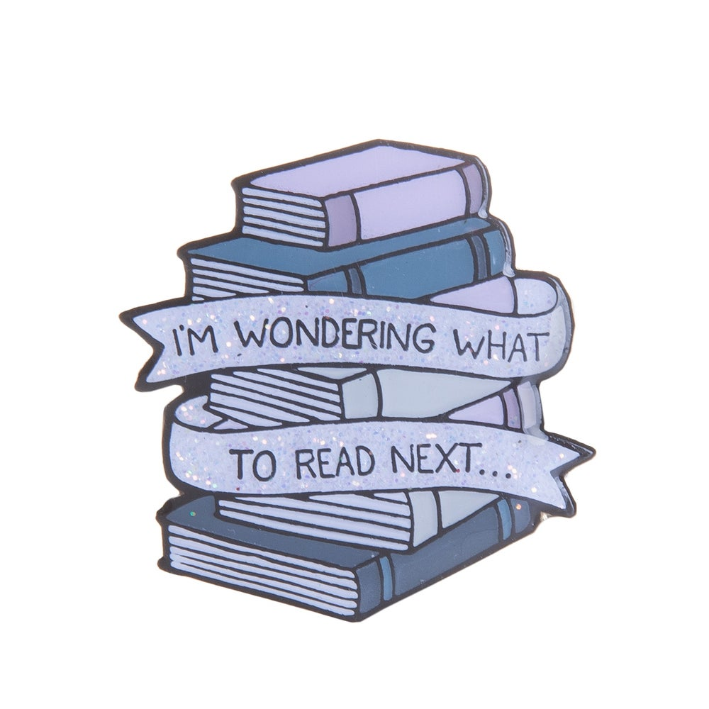 Image of Wondering What to Read Next Enamel Pin
