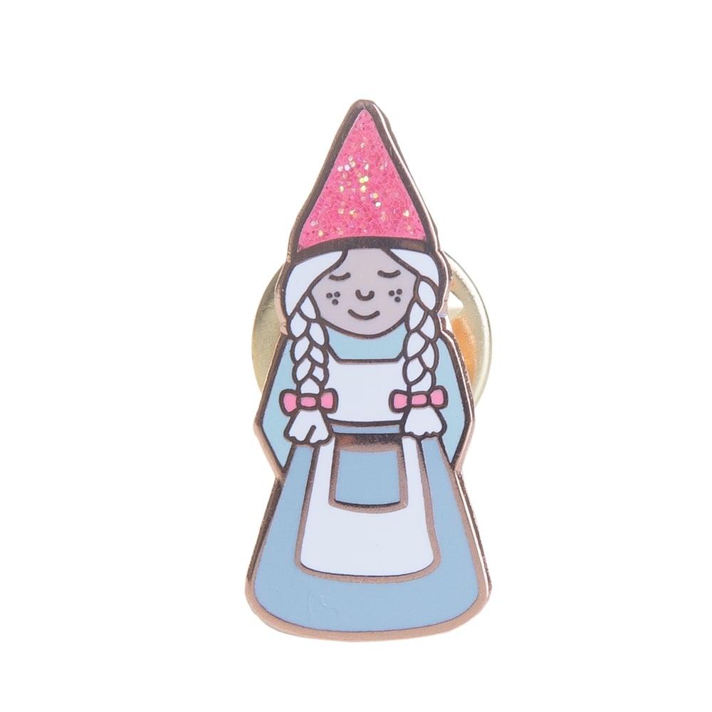 Image of Lady Gnome Enamel Pin