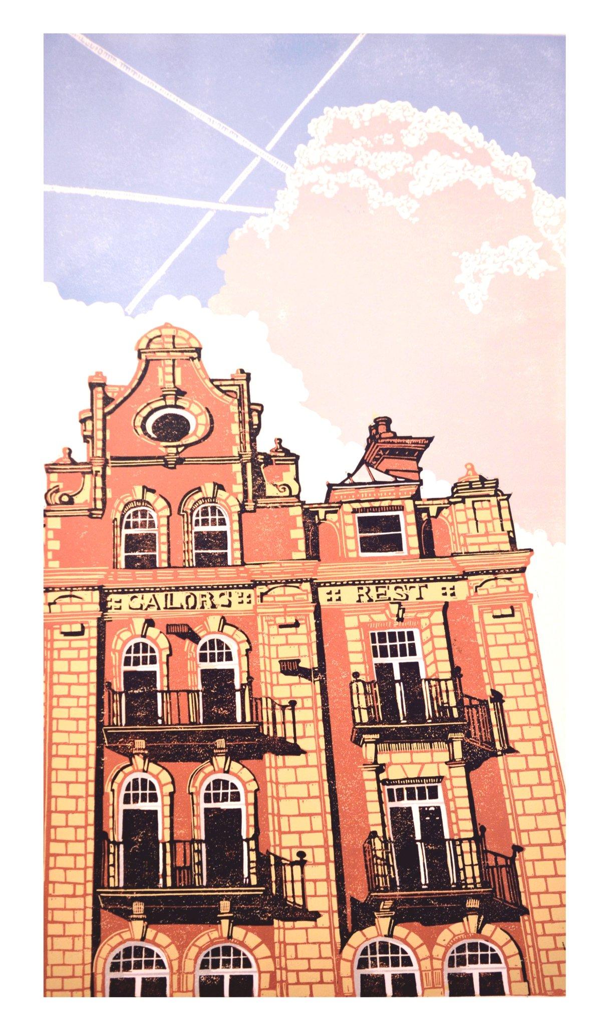 Image of Sailor's Rest - linocut print