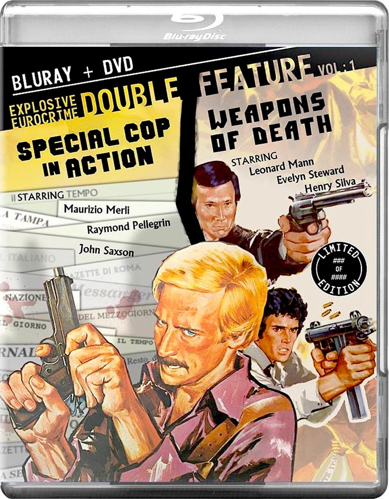 Image of EXPLOSIVE EURO-CRIME DOUBLE FEATURE Blu-ray - SPECIAL COP IN ACTION/WEAPONS OF DEATH