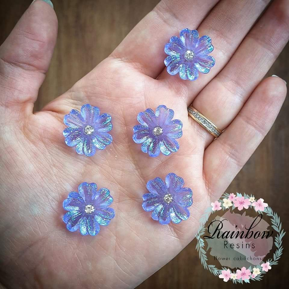 Image of Lavender sparkle flowers x 5