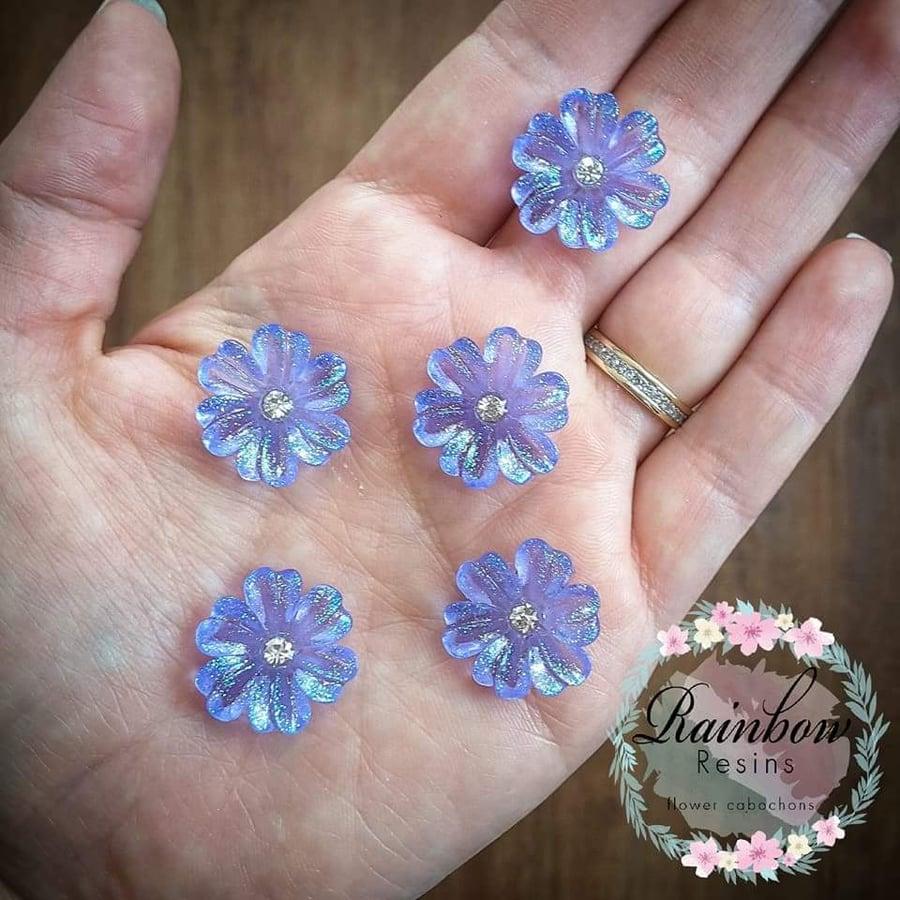 Image of Lavender sparkle flowers x 5