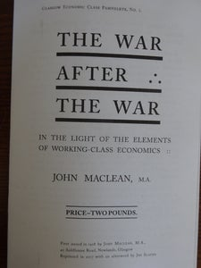 Image of The War After The War by John Maclean