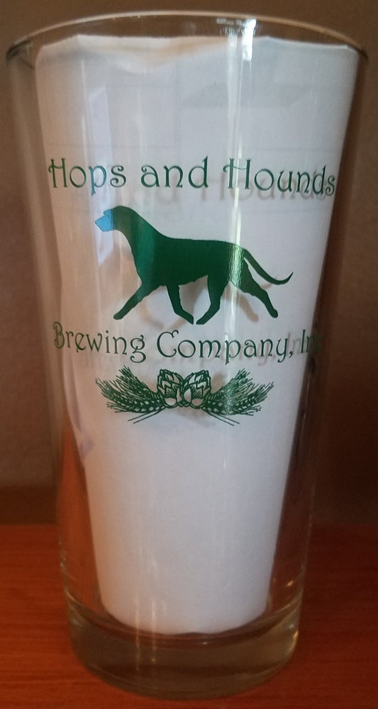 Image of Hops & Hounds Pint Glass