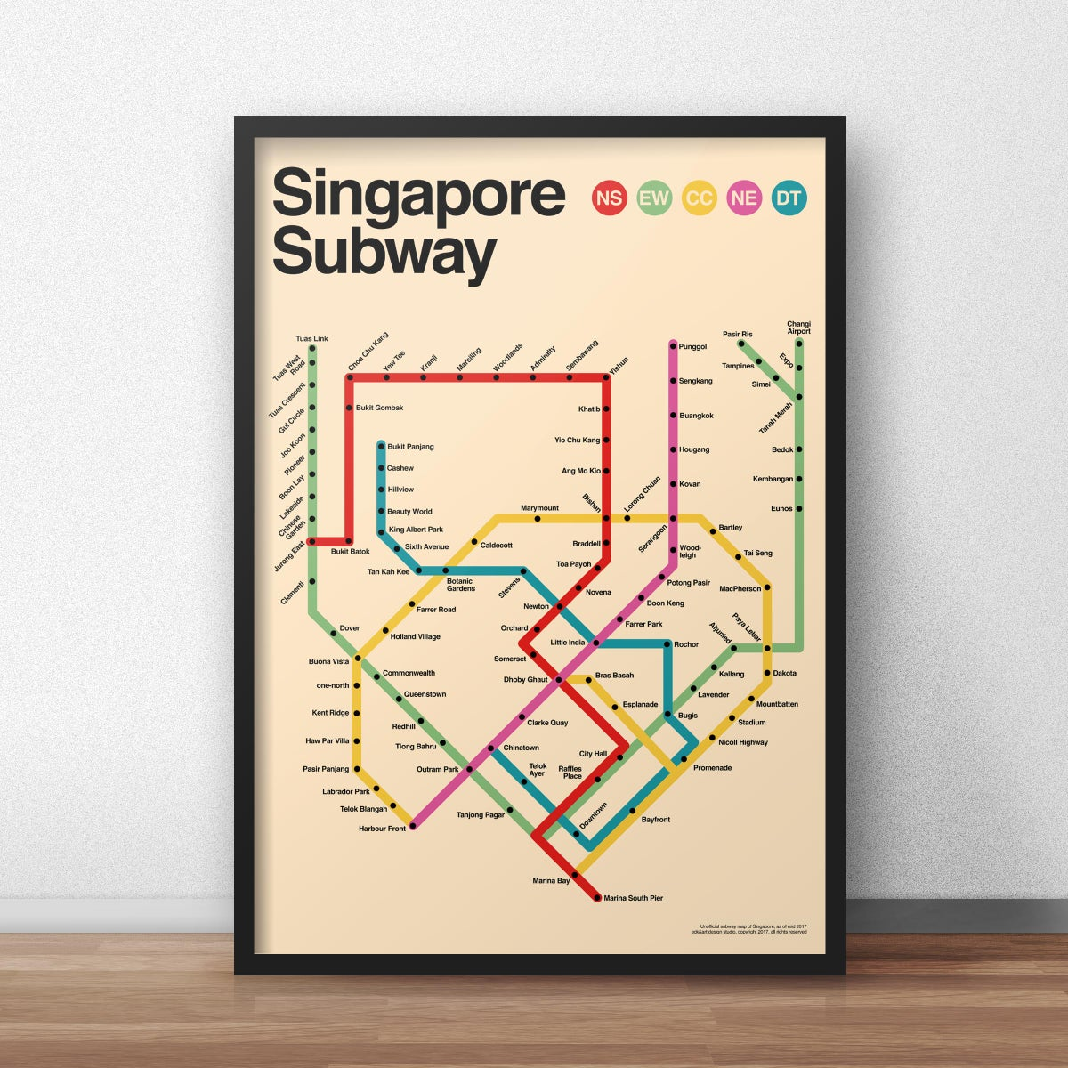 Eck Art Designs Singapore Subway Poster