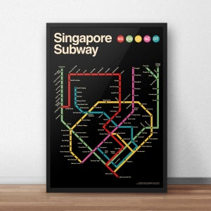 Image of Singapore Subway Poster