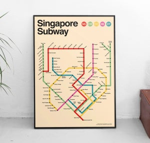 Image of Singapore Subway Poster