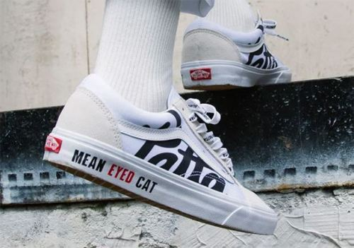 "Image of PATTA x BEAMS x VANS OLD SKOOL ""MEAN EYE CAT"" V36PATTA WHITE"