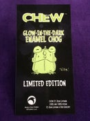 Image of CHEW: Limited Edition Glow-in-the-Dark Enamel Chog Pin! MONSTER FLASH SALE!