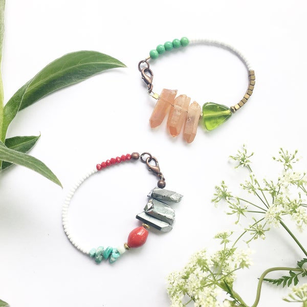 Image of Beaded Quartz Bracelets