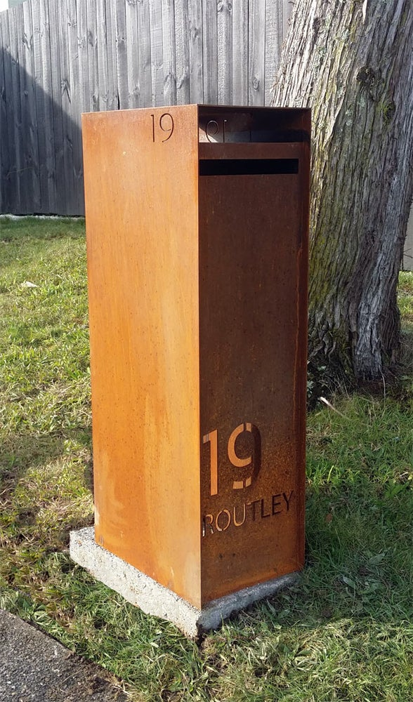 Image of New York Corten LetterBox